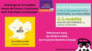 Lire l'article sur Challenge de la mobilité Hauts-de-France, covoiturez avec Pass Pass Covoiturage !